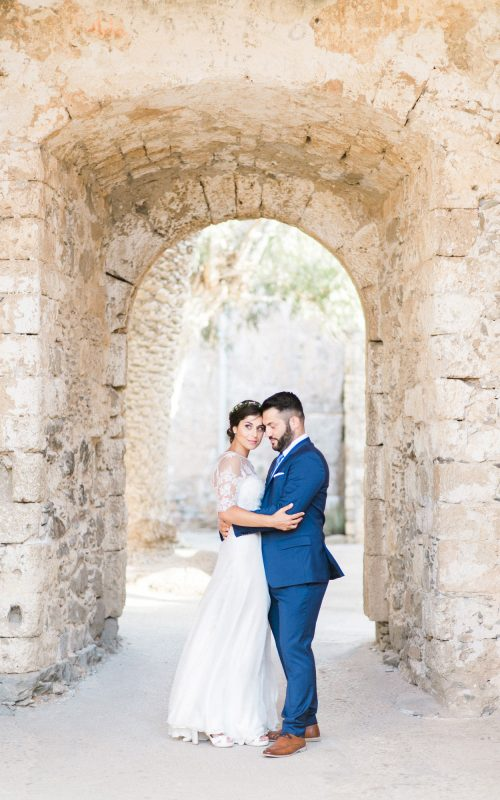 wedding portrait session in spinalonga island