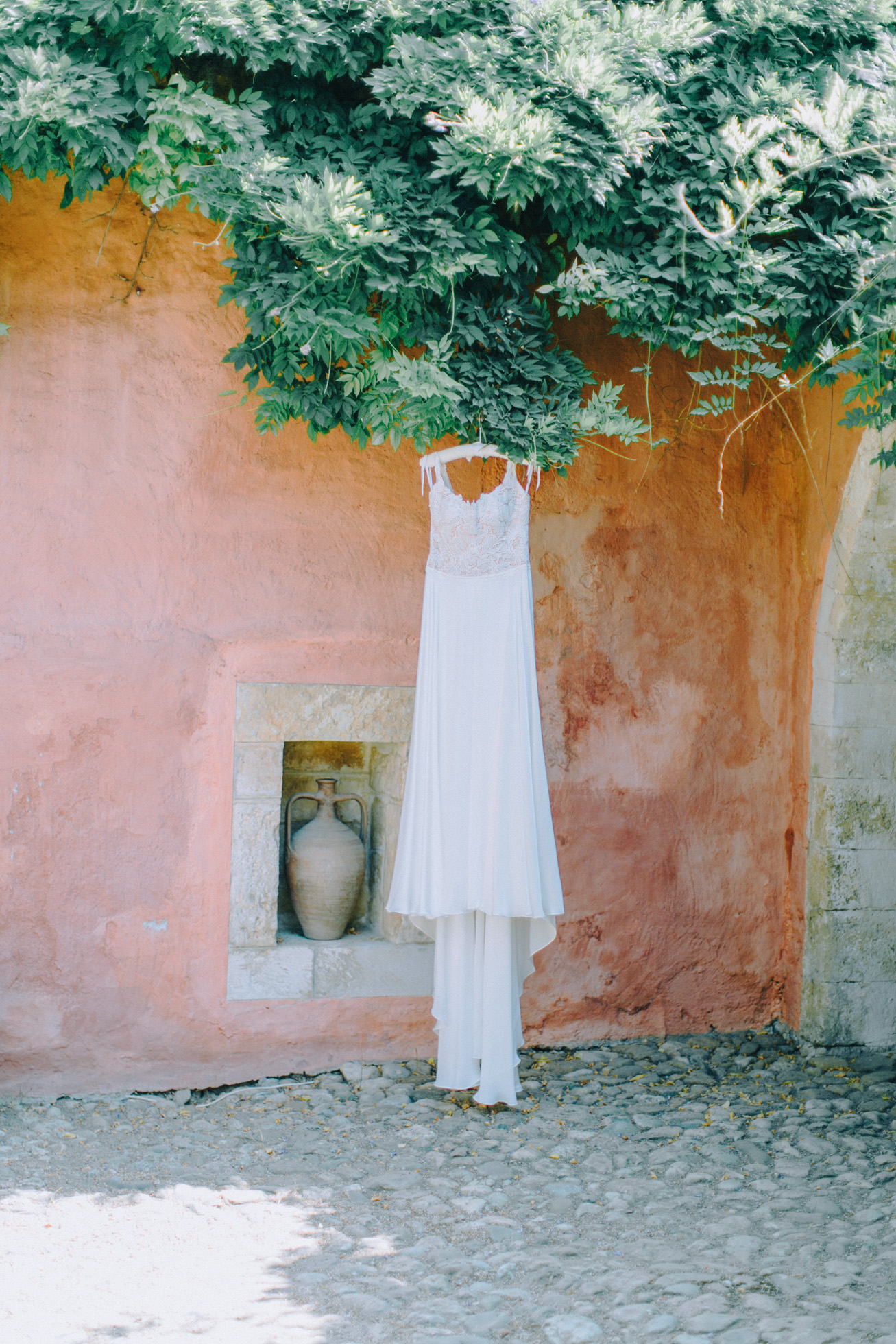 Elegant bridal detail photographed on a wedding day in Metohi Kindelis, Chania Crete.