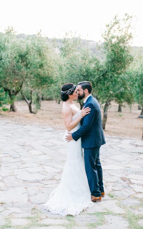 elegant rustic farm wedding in Rethymno, Crete