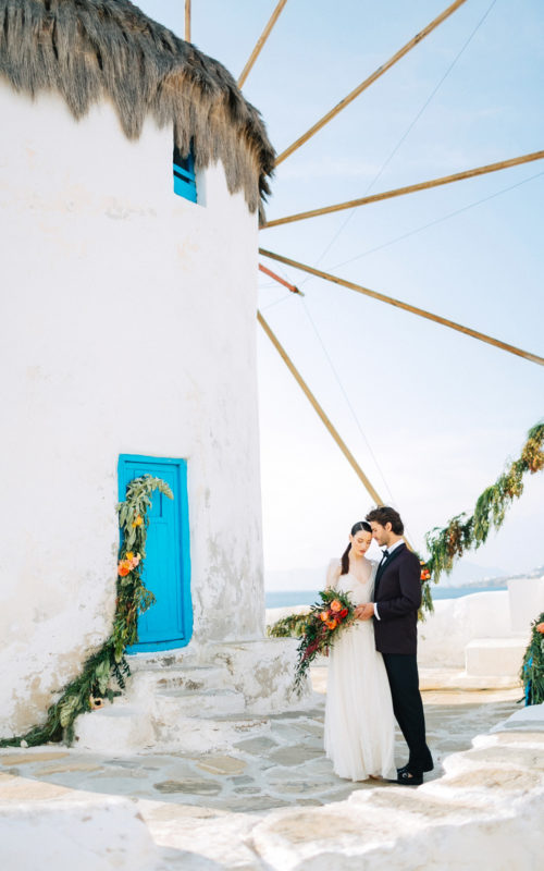 styled wedding in Mykonos, Greece